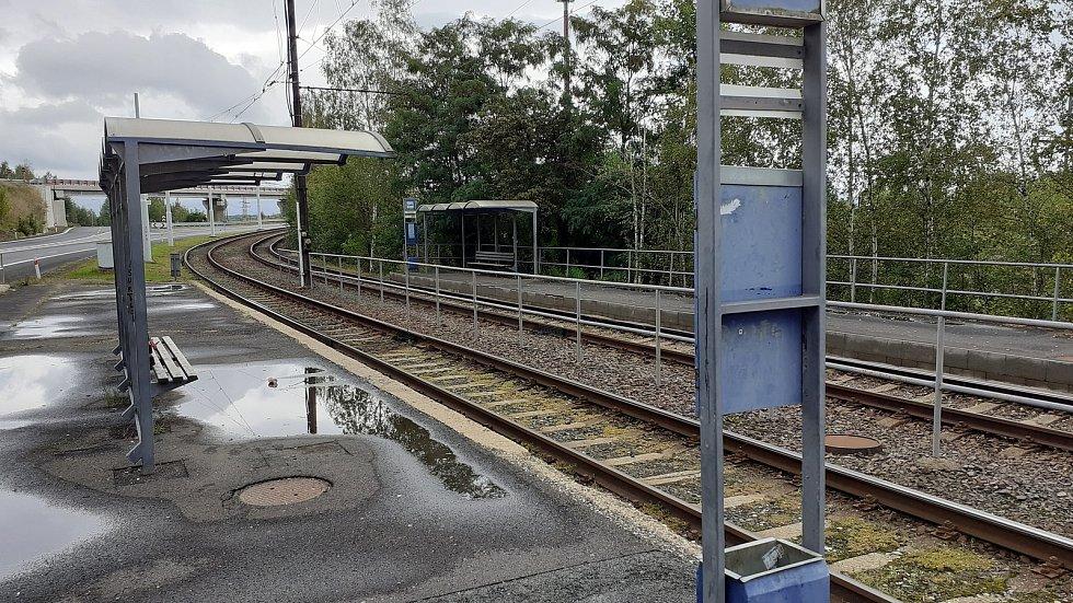 Mostecká Souš, tramvajová zastávka