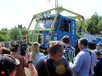 V Horním Jiřetíně se v sobotu opět konala Trucktrial show, spojená s Rockovým fesťáčkem.