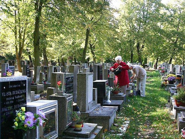 Litvínovský hřbitov.