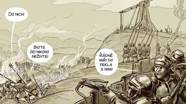 Ukázka z komiksu Bitva u Mostu