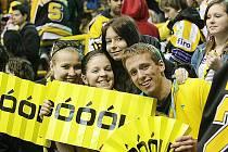 Litvínovští hokejoví fanoušci.