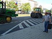 Protest zemědělců v Mostě.