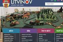 Hlavní strana oficiálního webu města Litvínov