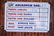 Otevřený venkovní areál aquadromu.