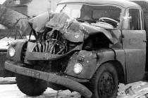 Dopravní nehoda v Mostě z února 1970