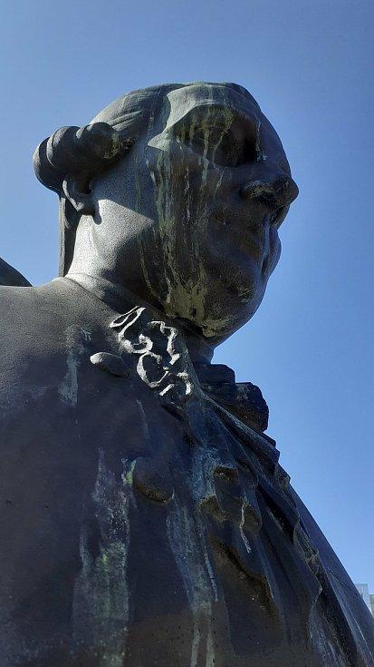 Busta nejslavnějšího mosteckého hudebníka F. L. Gassmanna.