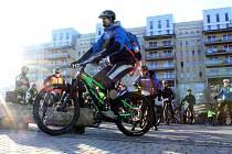 Vyznavači cyklistiky vyrazí již posedmé na Novoroční hobby jízdu městem.