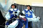 Na zámku hráli Tři mušketýry.