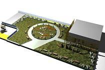 Spolek MY Litvínov si nechal zpracovat architektonickou studii. Park by mohl mít tuto podobu. S největší pravděpodobností ale bude na místě nakonec méně laviček i květináčů. Záleží na tom, na co budou stačit získané peníze.