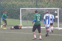 V Mostecké lize malé kopané se hrálo čtvrtfinále.