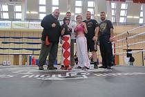 Kristýna Zemková (v helmě) v ringu.