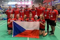 Český národní tým na ME do 17 let v slovinském Podčetrteku.