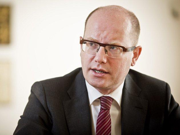 Předseda vlády Bohuslav Sobotka (ČSSD).