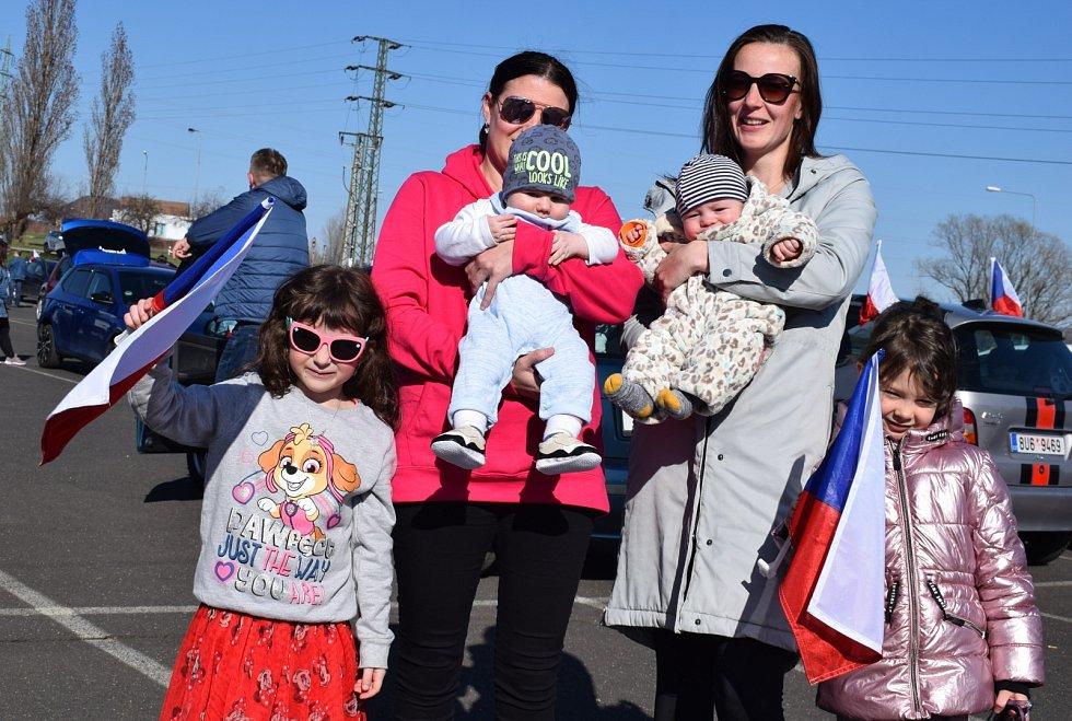 Již třetí protestní jízda městem Most za svobodu se uskutečnila o velikonoční neděli.