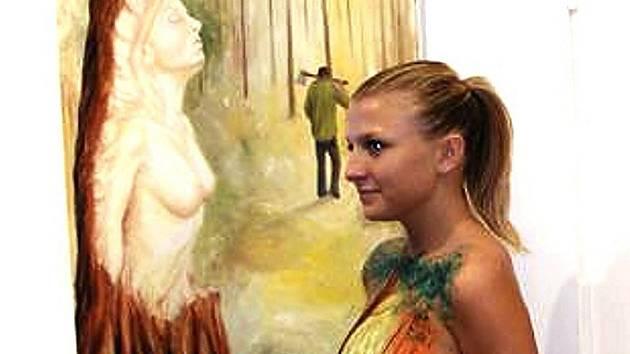 Modelka Andrea stála u zrodu obrazu Zamilovaný dřevorubec.