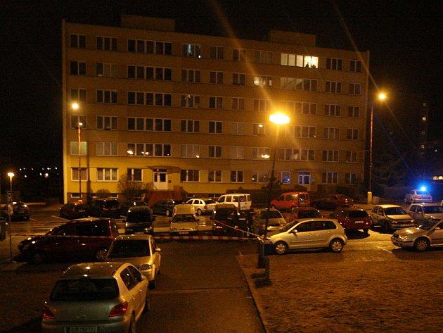 Místo střelby v Litvínově.