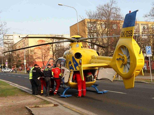 pro muže s masivním infarktem přilétl vrtulník