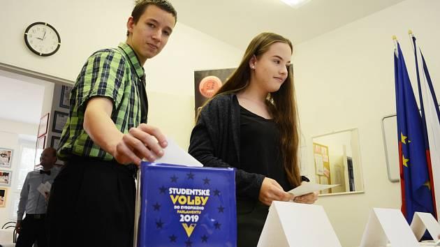 Studentské volby do Evropského parlamentu v Mostě