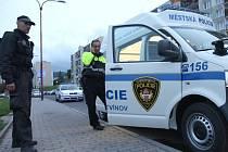 Mobilní služebna litvínovských strážníků v akci.