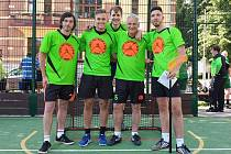 Foto z turnaje, zleva Marek Pöhl, Kristian Reichel, Jakub Hejduk, Miroslav Potužák st., Miroslav Potužák ml.