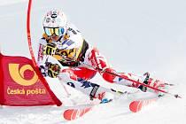 Talentovaný lyžař z Lomu Marek Müller.