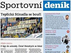 Sportovní deník v pondělí 27. srpna odstartoval
