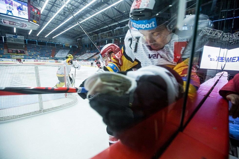 První zápas předkola play off mezi Hradcem a Litvínovem.