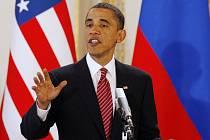 Prezident USA Barack Obama při návštěvě Prahy v roce 2010.