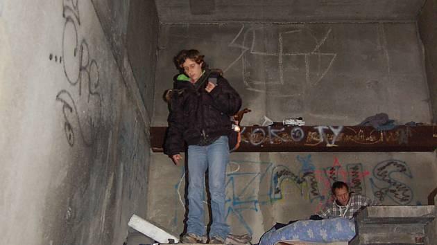 Bezdomovkyně Petra.