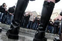 Pochod nacionalistů Litvínovem.