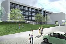 Takto má vypadat po rekonstrukci budova bývalého sídla OV KSČ Most, kde bude Jungle Arena.