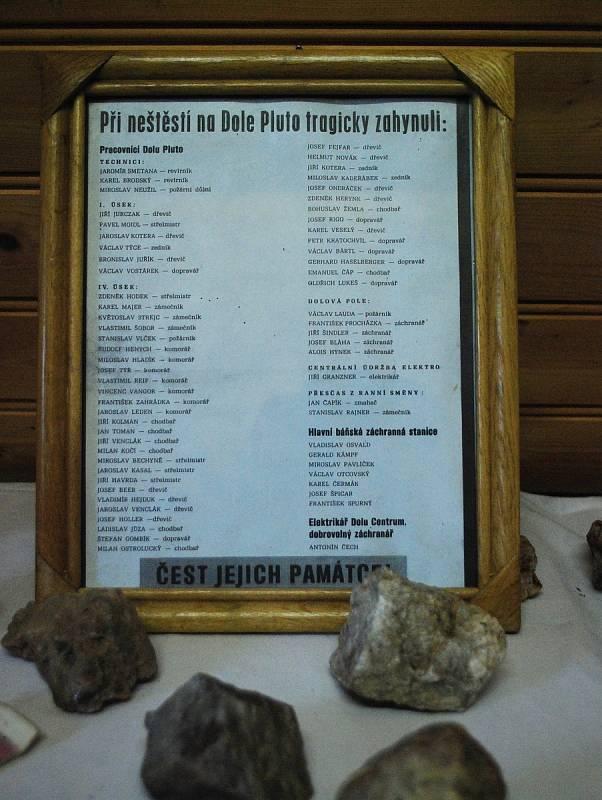 Seznam obětí na Dole Pluto u obce Louka u Litvínova.