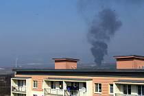 V sobotu 28. března před polednem začala hořet skládka Celio mezi Litvínovem a Mostem.