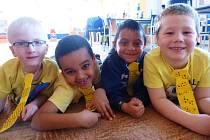 Děti v obrnické mateřské škole.