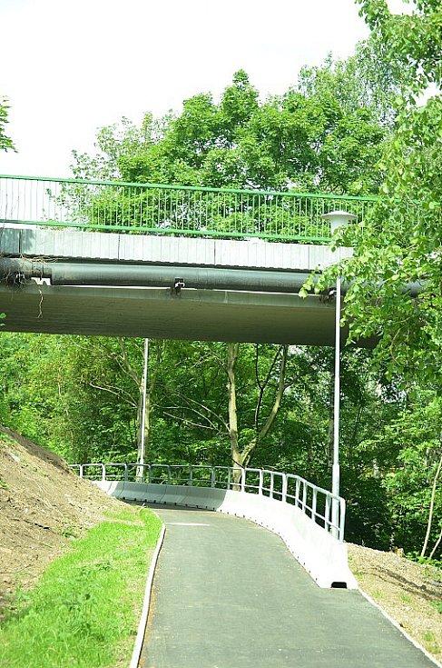 Chodník Chánov-Most.