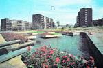 Tak vypadal park Střed v Mostě v 70. letech minulého století.