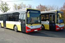 Nové nízkopodlažní vozy mosteckého dopravního podniku.