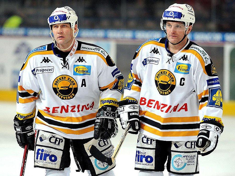 Jiří Šlégr a Robert Reichel se v neděli rozloučí s aktivním hokejem.
