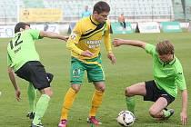 Naposledy Most (v zeleném) hrál bez branek se Sokolovem. V neděli hraje ve Varnsdorfu.