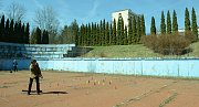 V místě, kde má vzniknout skatepark, se hrál nedávno turnaj v městském golfu, který pořádala Česká Asociace Extrémního Golfu.