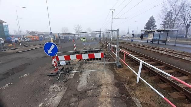 Výstavba dopravního terminálu v ulici Mostecká v Litvínově. Archivní foto