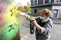 Seniorské graffiti v Litvínově v říjnu 2015.