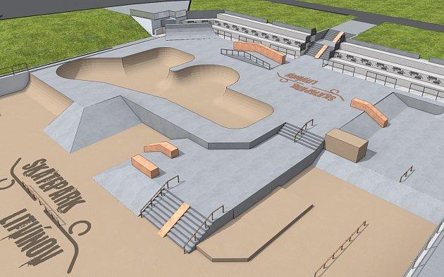 Vizualizace budoucího skateparku vLitvínově