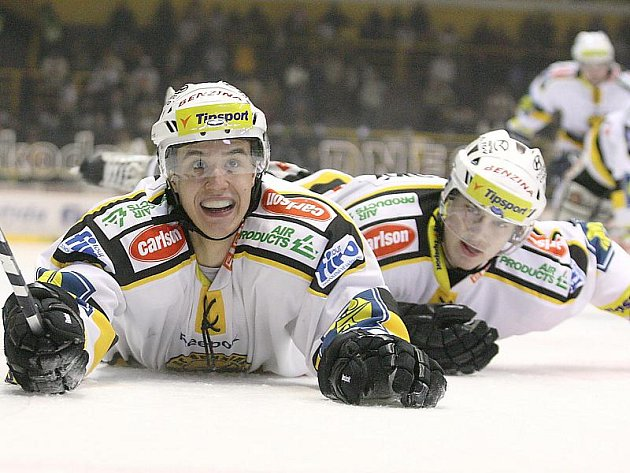 Budou doma litvínovští hokejisté takhle slavit?