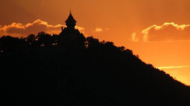Mostecký hrad Hněvín.