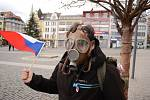 Demonstrace v Ústí nad Labem proti vládním opatřením.