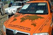 Škoda Octavia, se kterou dvojice Ladislav Bezděk a Kateřina Dvořáková absolvovala cestu kolem světa