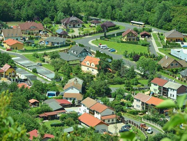 Nové domy v mostecké Souši.