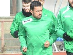 Zoran Danoski při tréninku s mosteckým Baníkem.