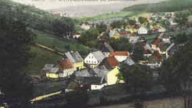 Hora Svaté Kateřiny na archivní pohlednici.